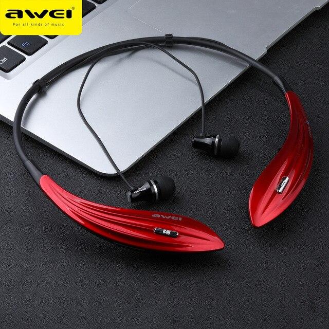 Awei a810bl Bluetooth Auriculares auriculares inalámbricos Super Bass Sport banda para el cuello auriculares audifonos kulakl K Bluetooth v4.1 Casque