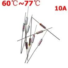Thermal Fuse 60C 65C 70C 73C 75C 77C Celsius Degree 10A 250V