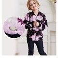 Cardigan Menina Spring Girls Jacket Fashion Casacos Infantis Menina Flower Chaquetas Ninos Design Girls Coats