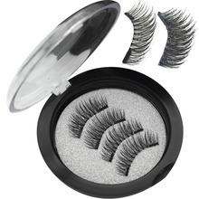 Wqzl 2 Pairs Magnetic Eyelashes With Magnets Soft Lashes Handmade 3D Natural False Double Magnet 24P