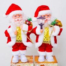 6a63d6ac8aa41 28cm Christmas Santa Claus Doll Electric Singing Santa Claus Dancing Toy  New Year Navidad Gift Christmas