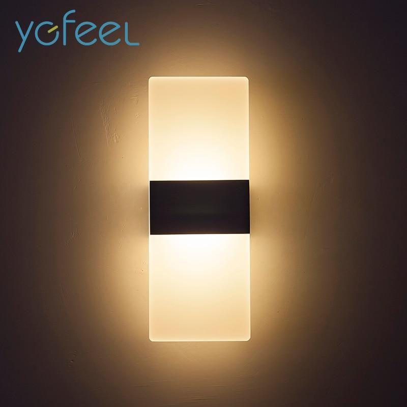 [YGFEEL] 6W/10W LED Wall Light Modern Bedroom Wall Lamp Reading Lighting Indoor Stair Corridor Lamp Aluminum+Acrylic AC90-260V стоимость