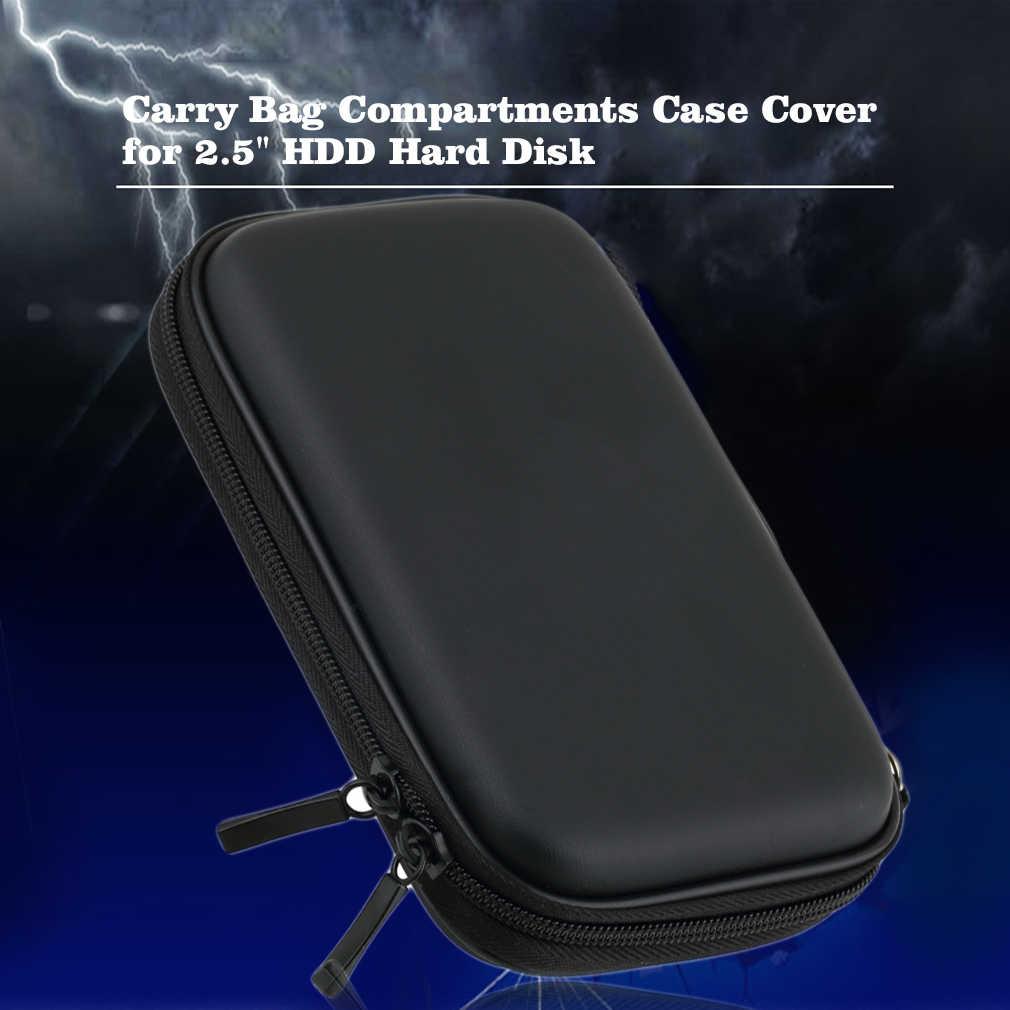 """Горячая 2,5 """"HDD сумка Внешний USB жесткий диск для переноски мини Usb кабель Чехол сумка для наушников для ПК кабель для жесткого диска чехол"""