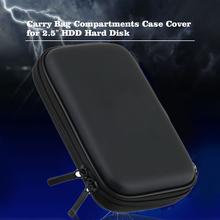 Hot 2 5 #8222 HDD Bag zewnętrzne usb dysk twardy Carry przewód usb mini skrzynki pokrywa etui torba na słuchawki na PC Laptop obudowa do twardego dysku tanie tanio Alphun