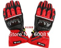 Motorcycle protective gear waterproof mobile phone touch lamp led genuine leather carbon fiber gloves YOHE MTO 05 racing glove