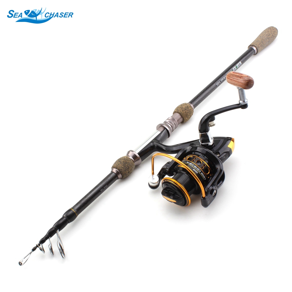 NEW 2.1m2.4m 2.7m Multifunction Fishing Tackle set  Carbon Spinning telescopic fishing rod  and Spinning Reels Promotion!