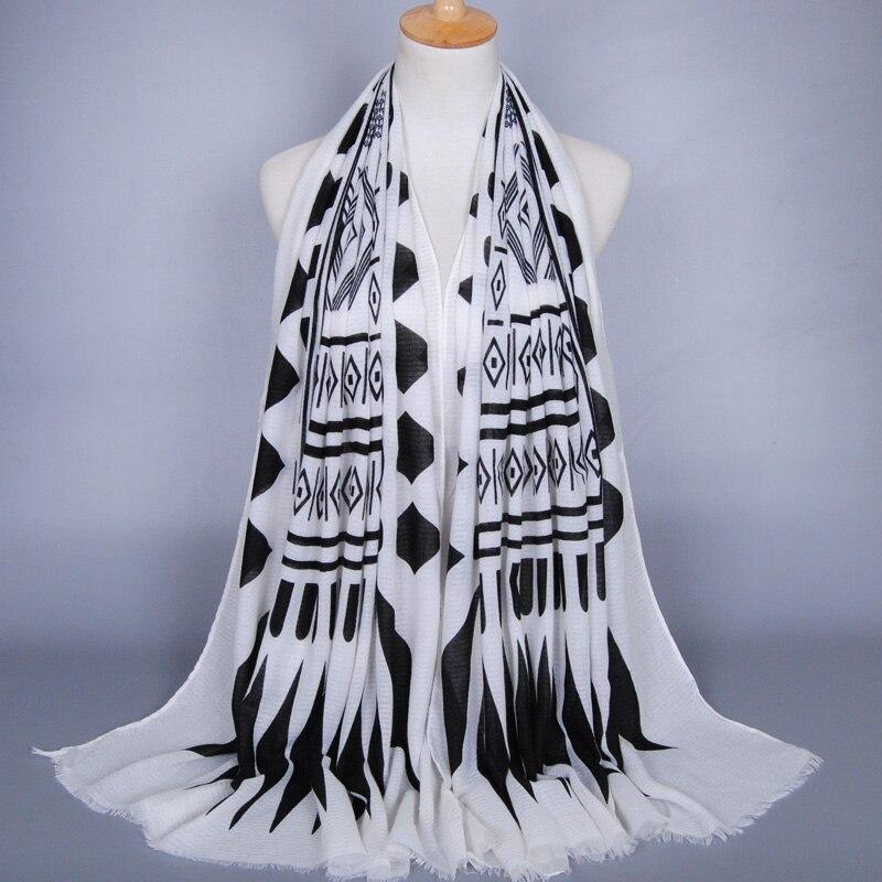 Femmes printe géométrie bohème floral coton de mode silencieux automne  châles bandeau musulman HIJAB foulards écharpe 10 pcs lot df30693357d
