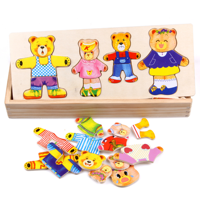 Kid's Bear Family Magnet Board Game