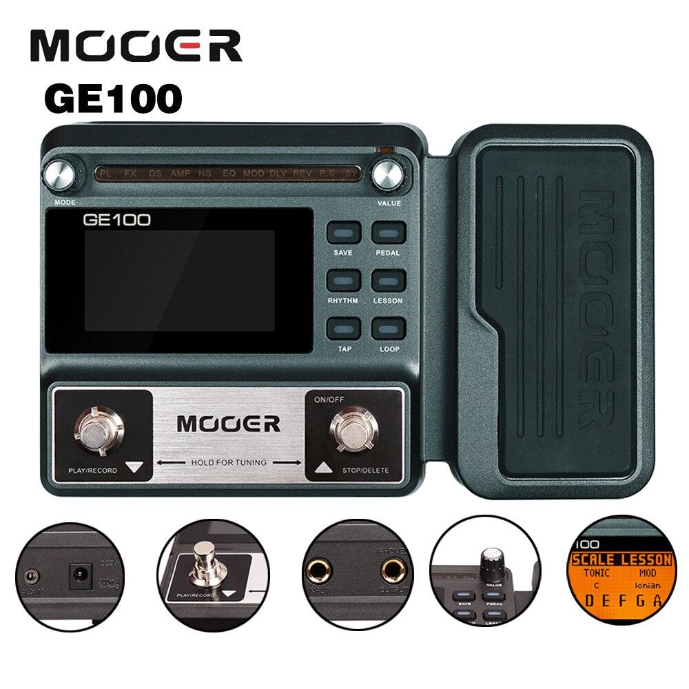 купить Mooer GE100 Multi Processor Guitar Effects Padel 8 Effect Modules 66 Types With Loop Recording Tap Tempo Rhythm Setting Scale дешево
