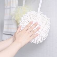 Cute Chenille Hanging Water Absorbent Clean Cloth Bathroom Kitchen Quick Drying Washing Towels Handball Cleaning Clothes