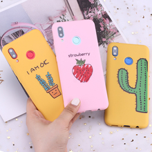 For Samsung S8 S9 S10 S10e Plus Note 8 9 10 A7 A8 Cartoon Plants Flowers Cactus Fruit Silicone Phone Case Capa Fundas Coque