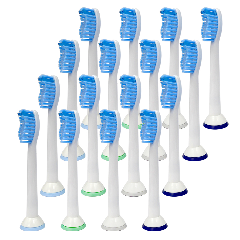 16PCS Electric Sonic Replacement Tooth Brush Heads HX6054 For Philips Sonicare Toothbrush Heads Diamondclean Soft Bristles image