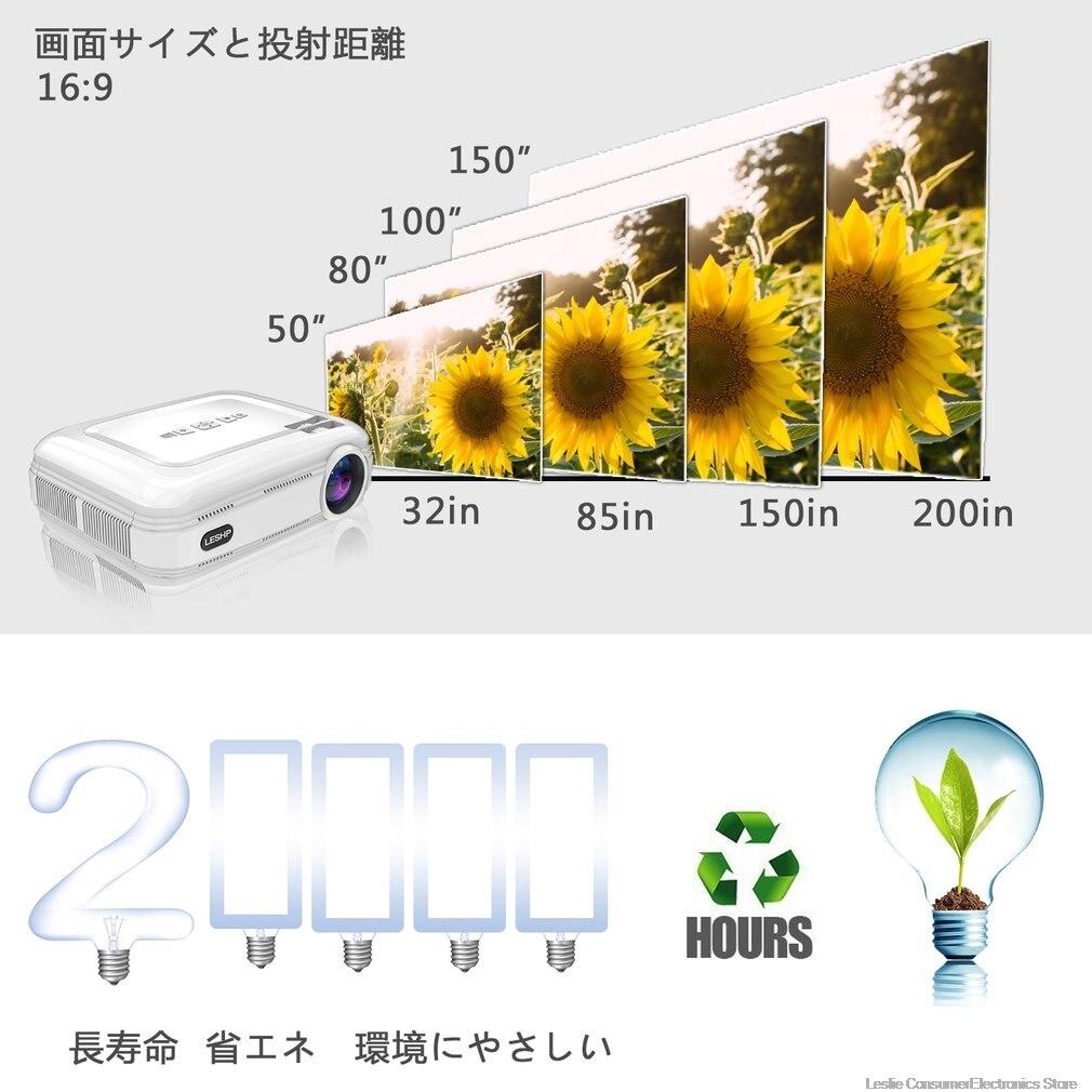 BL58 projecteur LED projecteur vidéo blanc Portable Home cinéma cinéma jeu projecteur HDMI VGA USB WIFI pour Android chaud - 4