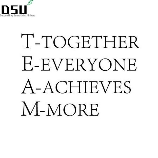 TEAM Together Everyone Achieves More Team Motivational Quote Office Beauteous Together Quotes
