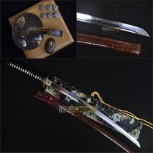 Free Sword Bag SHARP TOP Real Battle Ready Full Tang Hand forged T10 1095 Clay Tempered Steel Japanese Samurai Katana Sword #BJH