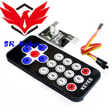 1 Set Infrared Remote Control IR Receiver Module Kit DIY HX1838 For Arduino Raspberry Pi Remote Control RC Toy Robot Car Model(China)
