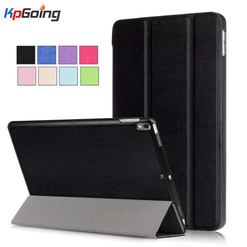 KpGoing Case for iPad Pro 10.5, Premium PU Leather Business Folio Stand Cover Case for iPad Pro 10.5 inches 2017 Released Black leather case flip cover for letv leeco le 2 le 2 pro black