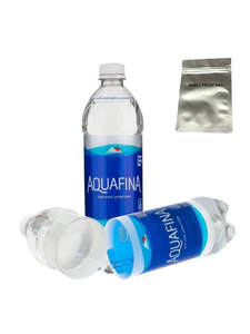 Security-Container Stash-Bottle Smell-Proof Diversion Safe Aquafina Hidden Can with Food-Grade
