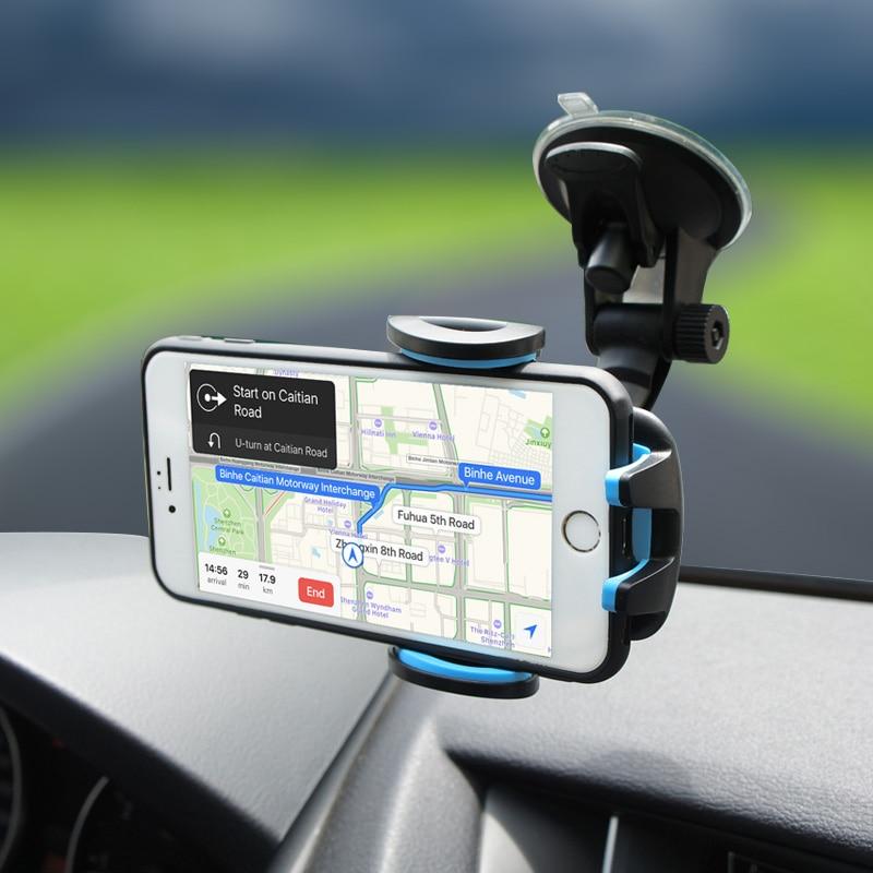 Moeff soporte Universal del teléfono del coche 360 grados de rotación ajustable soporte para teléfono móvil para iPhone 6 7 más Samsung Xiaomi