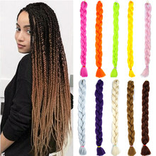 MUMUPI Synthetic Braiding Hair Extensions Hair Twist Braiding Hair High Temperature Hair Extensions 165g/Pc 82Inch(China)