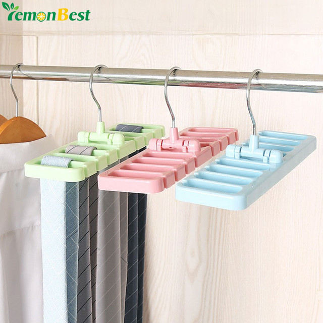Storage Rack Tie Belt Organizer E Saver Rotating Scarf Ties Hanger Holder Hook Closet Organization Tank Tops Bra Belts Bag