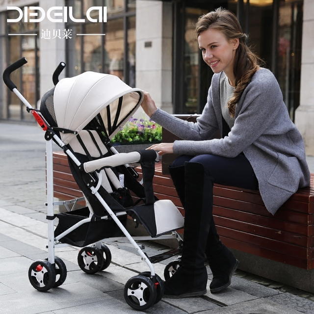 Strollers can sit lie ultra-portable folding umbrella car shock absorbers four push the stroller little baby child bb