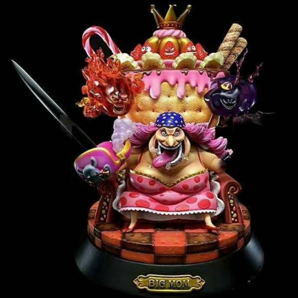Japan Anime One Piece Four Emperors BIG MOM gk resin Action figure toy Doll Charlotte Linlin Collection OP Model Gift image