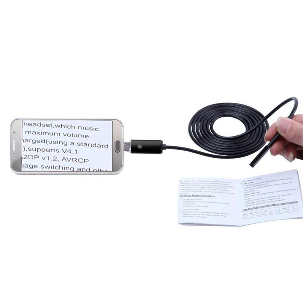 Вспышка 2 в 1 смартфон USB эндоскоп Инспекционная камера 5,5 мм для Android 6 светодиодный в труднодоступных местах