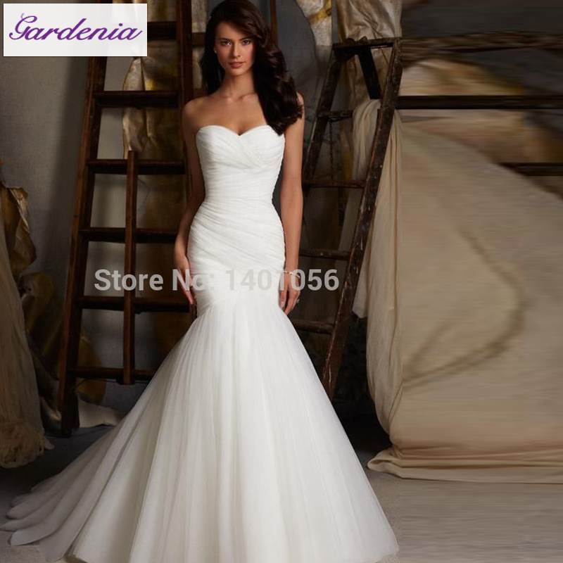 Romantic 5108 Fishtail Wedding Dress Simple Style Dress for Bride ...