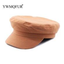 Весенние модные женские шапки в стиле милитари, винтажный черный берет, армейская Кепка, Женская восьмиугольная кепка, шапка моряка