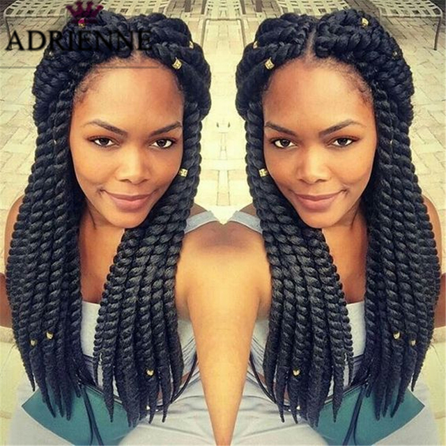 24 inch havana mambo twist crochet braiding hair long for Crochet braids salon