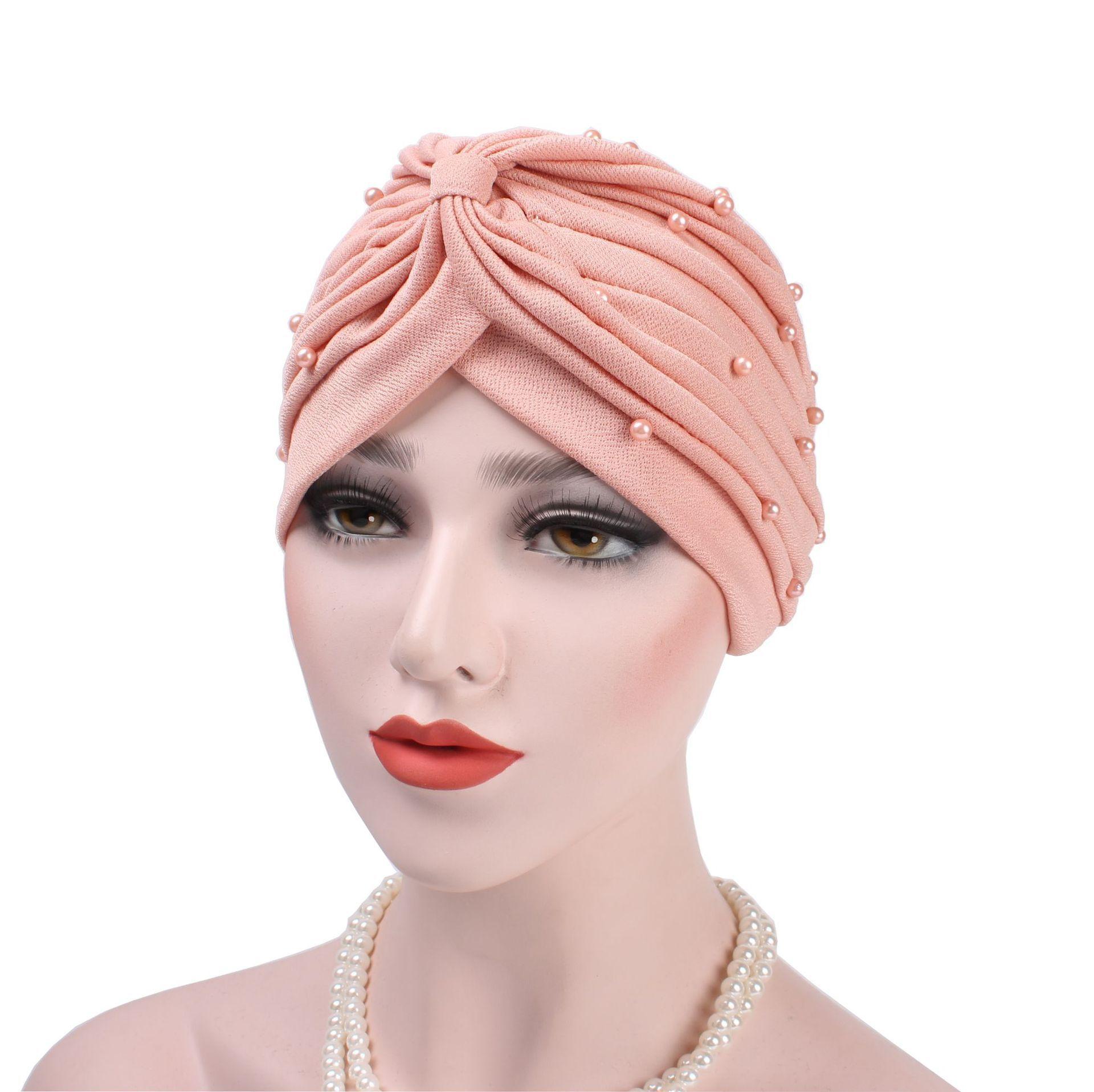 女性の帽子インド女性イスラム教徒癌化学及血帽子ビーニースカーフターバンヘッドラップキャップ女性の帽子