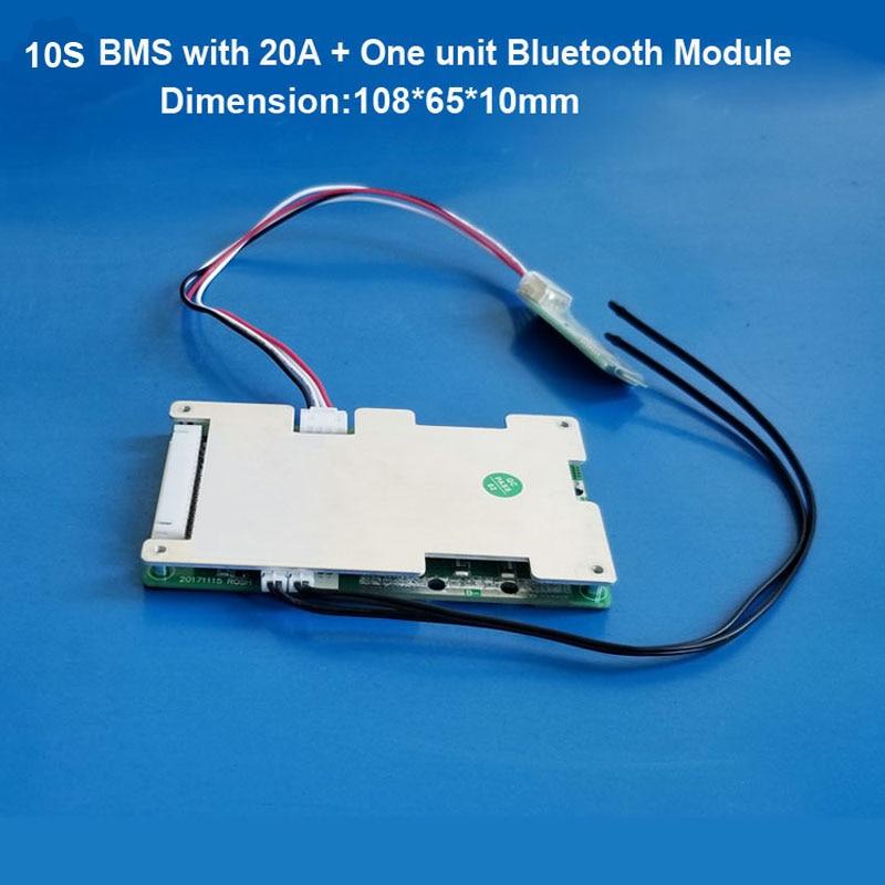 Литиевая батарея 10S 36 В, печатная плата и интеллектуальный BMS с приложением по с функцией Bluetooth, интеллектуальная схема защиты электрическог...