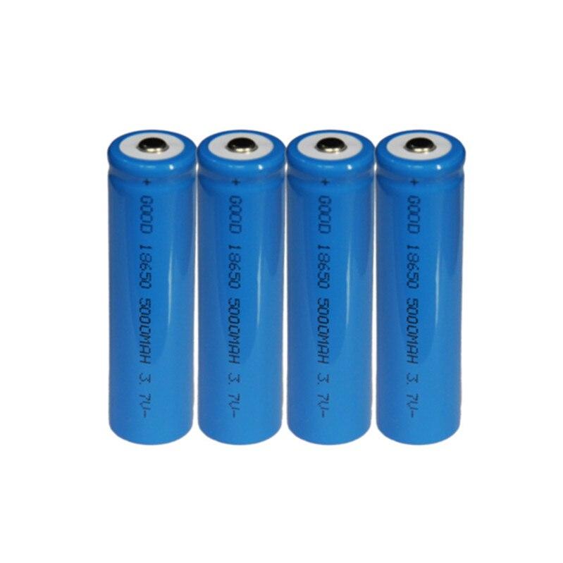2 pcs 18650 Battery Li-ion 4800mAh 3.7V Rechargeable Batteries Button Top Battery 3.7 Volt Large Capacity 18650 Lithium Battery for Flashlight Fan