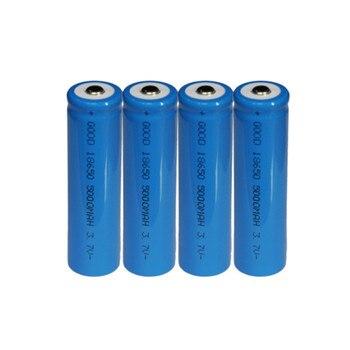 4PCS 3.7V 5000mAh 18650 Battery Li Ion Rechargeable Large Capacity Battery
