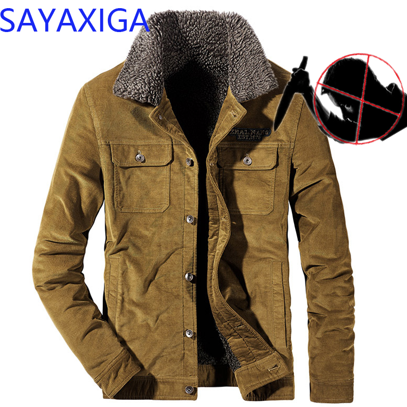 Self Defense Men Clothing Anti stab Cut Resistant Anti Sharp Blade Outfit Police Casual Defense Corduroy jacket coat outwear top