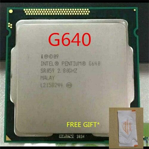 intel Pentium G640 cpu 3M/2.80 GHz LGA 1155 TDP 65W H61 B75 81 B85 motherboard have a Pe ...