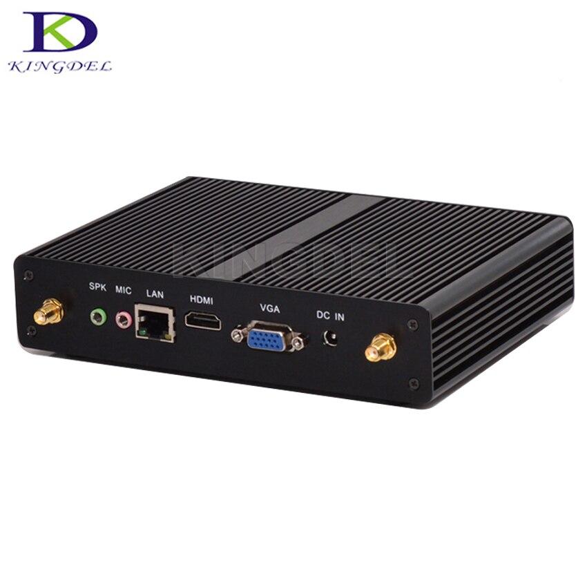 3 Year Warranty Fanless Mini Desktop PC Intel Celeron 2980U 3215U HTPC USB 3.0 HDMI VGA 1000M LAN WiFi