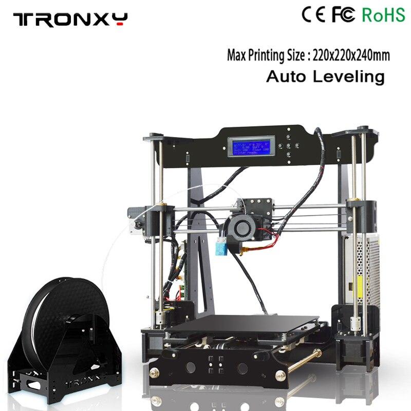 Meilleur Tronxy P802M Auto Niveau 3D Imprimante bricolage kits complets Directe Extrudeuse MK3 heatbed 3D Impression 3 DCSTAR P802-MHS