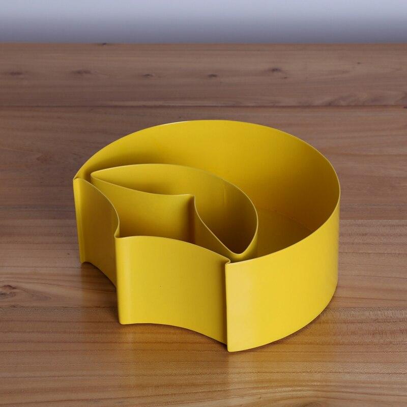 c854923e1ec0e1 Hot Selling Unique Design Macaroon Yellow Storage Box for Sundries Modern  Metal Tabletop Organizer Home Decor Accessories