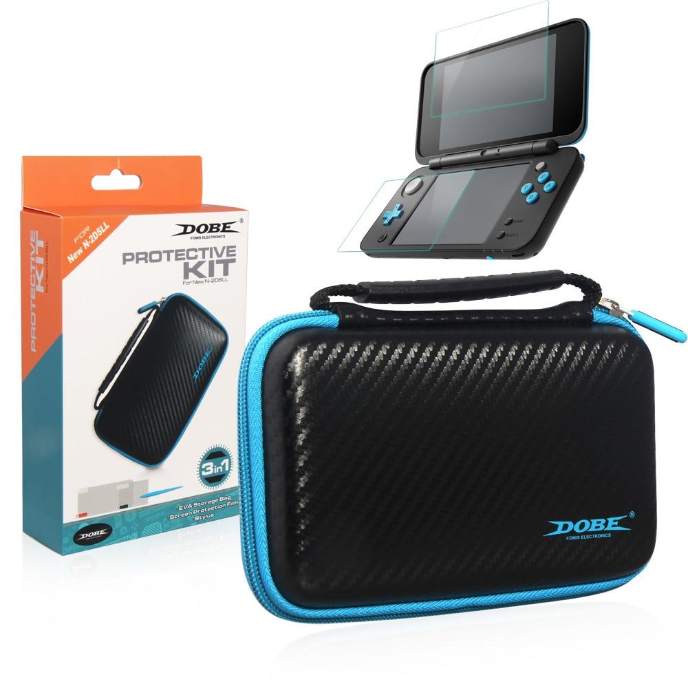 3 IN 1 Kit di Protezione Duro EVA Protettiva Viaggi Custodia Impermeabile Sacchetto di immagazzinaggio Con La protezione dello schermo per Nintendo NEW 2DS XL LL