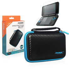 цена на 3 IN 1 Protective Kit Hard EVA Protective Travel Waterproof Case Storage Bag With screen protector for Nintendo NEW 2DS XL LL