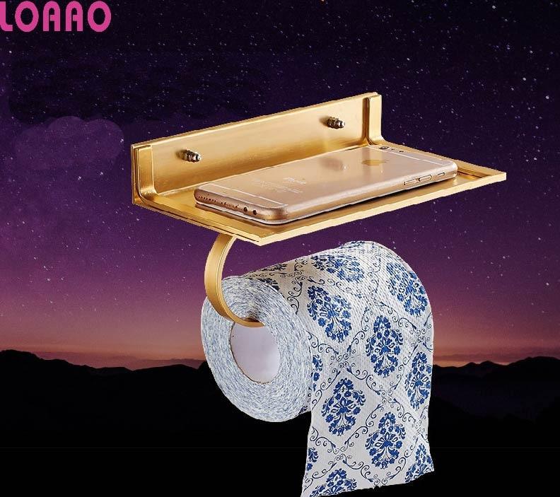 LOAAO Aluminum tissue box home storage racks Bathroom ... on Wall Mounted Tissue Box Holder id=36587