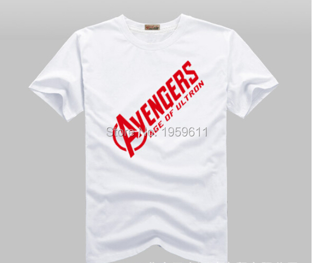100 Cotton Unisex The Avengers Logo AGE OF ULTRONT-shirt Shirt Movie Tops Cosplay Costume Theme Of Shield