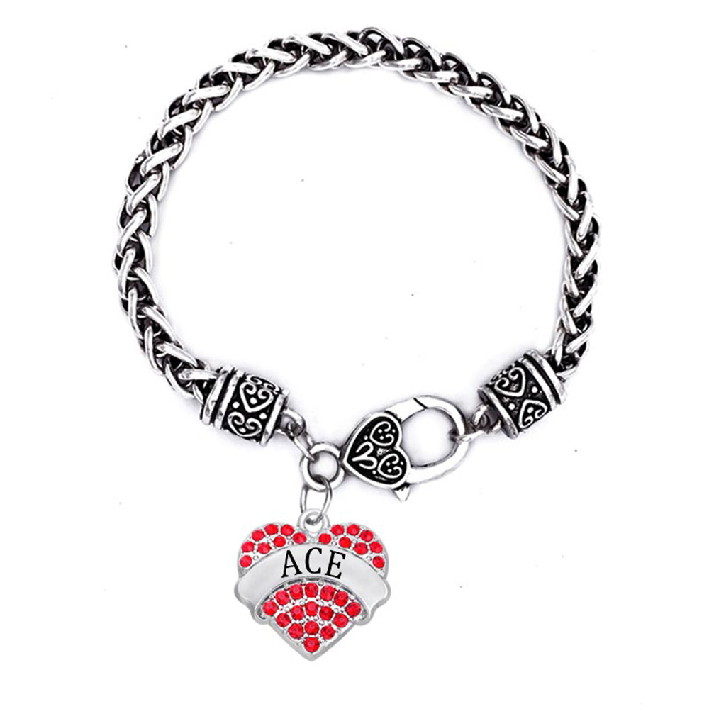 Antique Silver Chain Hearts Charm Pendant Bracelets With Words Factory Direct Bulk In From Jewelry Accessories On