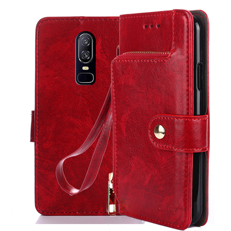 Oneplus 6 Case K'try Luxury Leather Flip Case for OnePlus 6 Stand Book Wallet Cover for One Plus 6 Oneplus6 Phone Coque New