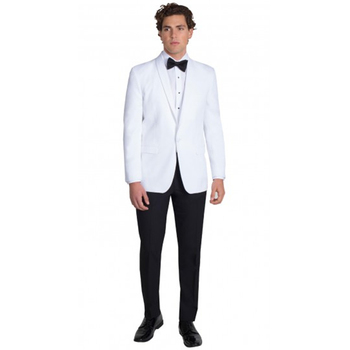 Tailored Made Groomsmen men suit Shawl White Groom Tuxedos White Mens Suits Wedding Masculino Vestidos (Jacket+Pants)