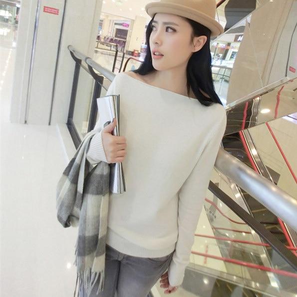 otoño y primavera suéter de cachemira pura del suéter de las mujeres collar gra