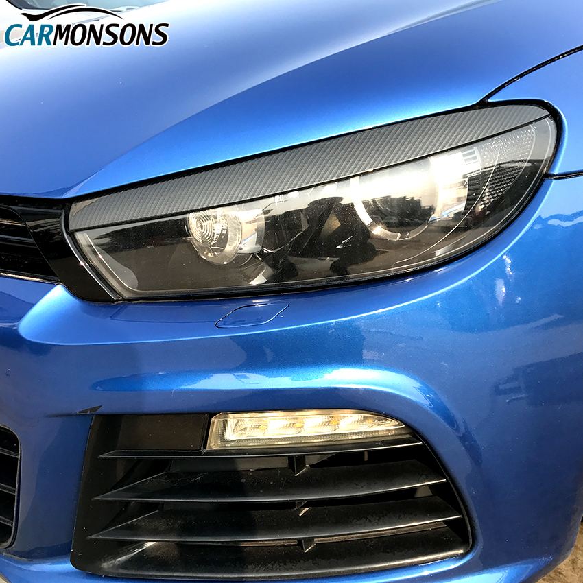 Scirocco R GTS 2008 Eyebrow Eyelids Headlight Trim Gloss Black