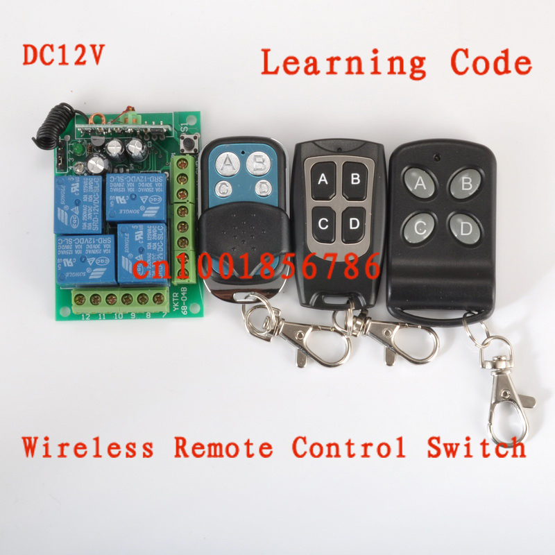 Wireless Remote Control Power Switch System 12V 4CH Receiver &3 Transmitter Working way is adjustable 200M.Free Shipping receiver & transmitter ac220v 1ch wireless remote control lighting switch system working way adjustable 315 433 92mhz